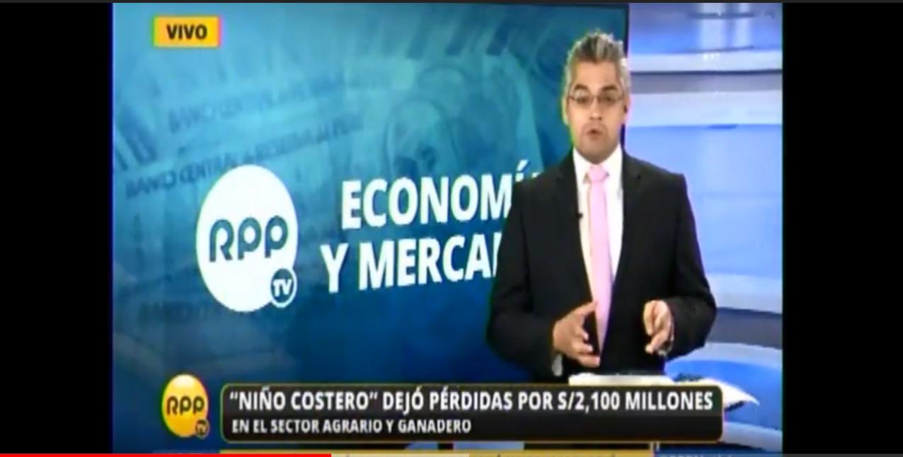 NIÑO COSTERO DEJO PERDIDAS POR S/. 2,100 MILLONES EN EL SECTOR AGRARIO-04.04.2017