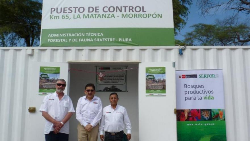 MINAGRI INAUGURA CUATRO PUESTOS DE CONTROL FORESTAL EN PIURA