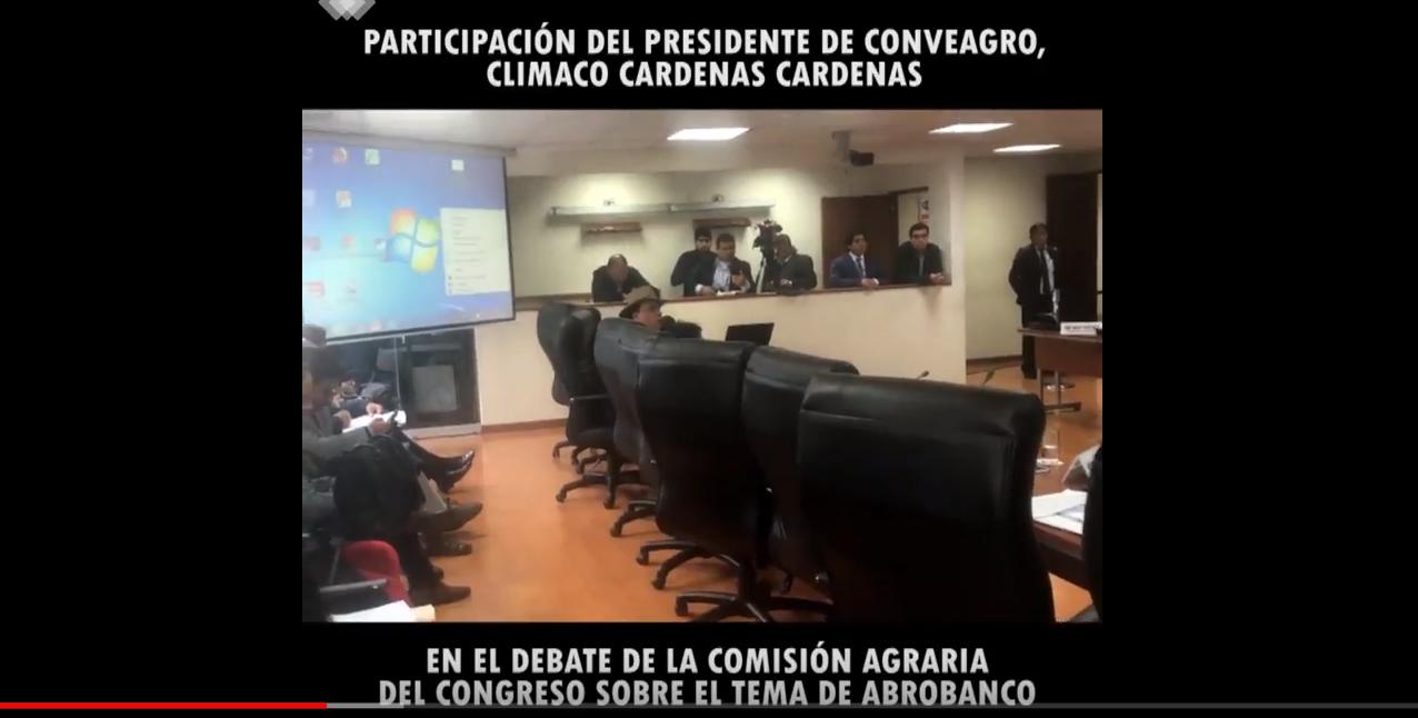 CONVEAGRO en la Tercera Sesión Extraordinaria de la Comisión Agraria
