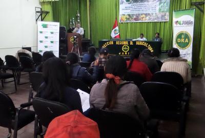 JUNÍN TALLER FORTALECIMIENTO DEL COMITÉ REGIONAL DE AGRICULTURA FAMILIAR Y SEGURIDAD ALIMENTARIA Y NUTRICIONAL